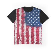 American Flag - Grunge Graphic T-Shirt