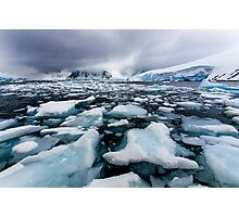 Icy Channel Photographic Print