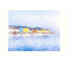 Misty Morning On The Irish Coast At Galway Art Print