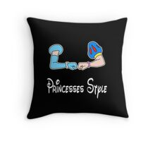 Bro-fist Princesses Style Throw Pillow