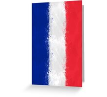French Flag Grunge Greeting Card