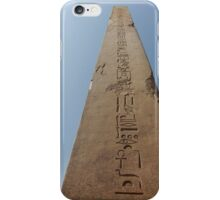 Obelisk at Karnak iPhone Case/Skin