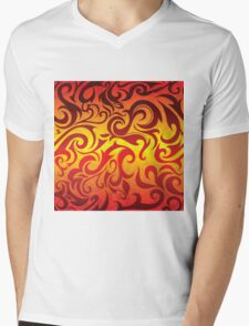 Red, yellow and gold vector pattern Mens V-Neck T-Shirt