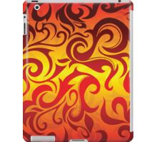 Red, yellow and gold vector pattern iPad Case/Skin