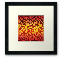 Red, yellow and gold vector pattern Framed Print