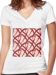 Endless love Women's Fitted V-Neck T-Shirt