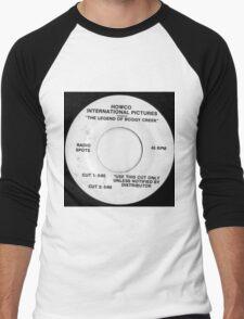 movie ads 45, drive in theater b movie radio spots Men's Baseball ¾ T-Shirt