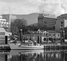 Winter, Constitution Dock Hobart by Brett Rogers
