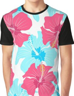 pattern with hibiscus  Graphic T-Shirt