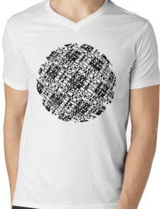 Hologram Pop Art Sphere Mens V-Neck T-Shirt