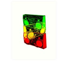 Ghetto Blaster Trio Design Art Print