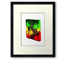 Ghetto Blaster Trio Design Framed Print