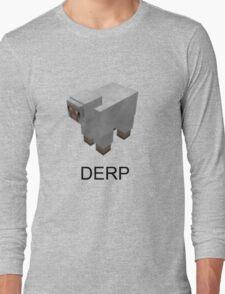 Minecraft Derp Tee Long Sleeve T-Shirt