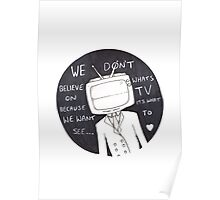 Twenty One Pilots Lyrics ( we dont believe what on TV ) Poster