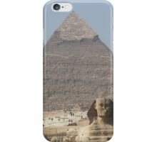 Pyramid and Sphinx at Giza iPhone Case/Skin