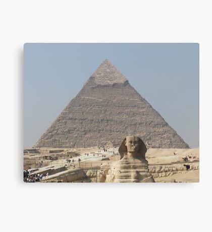 Pyramid and Sphinx at Giza Canvas Print