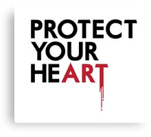 Protect Your He(art) Canvas Print