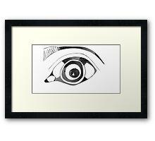 The Naked Eye Black and White Framed Print