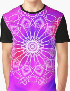 Pink and Purple Mandala Graphic T-Shirt
