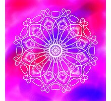 Pink and Purple Mandala Photographic Print