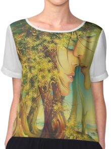 An Encounter at the Edge of the Forest Chiffon Top