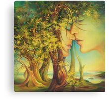 An Encounter at the Edge of the Forest Canvas Print