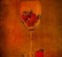 Strawberry Still Life IV by Sandra Cockayne