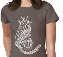 Rufus (white print) Womens Fitted T-Shirt