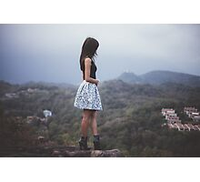 model on Mountain haze Photographic Print