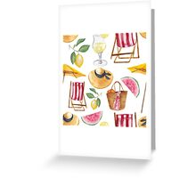 Dreams about beach Greeting Card