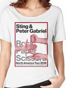 Peter Gabriel Sting Rock Paper Scissors 1 Women's Relaxed Fit T-Shirt