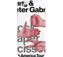 Peter Gabriel Sting Rock Paper Scissors 1 iPhone Case/Skin