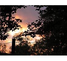 June Sunset Photographic Print