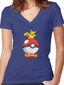 Pokémon Pikachu Women's Fitted V-Neck T-Shirt