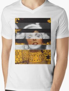 Klimt's Judith and the Head of Holofernes & Marlene Dietrich Mens V-Neck T-Shirt
