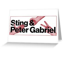 Peter Gabriel Sting Rock Paper Scissors 2 Greeting Card