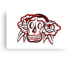 """Bold-School"" Candy Skull. Canvas Print"
