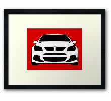 Front View Design: HSV VF GTS Clubsport Tee Shirt / Sticker for Holden Enthusiasts Framed Print