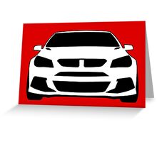 Front View Design: HSV VF GTS Clubsport Tee Shirt / Sticker for Holden Enthusiasts Greeting Card