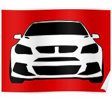 Front View Design: HSV VF GTS Clubsport Tee Shirt / Sticker for Holden Enthusiasts Poster