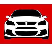 HSV VF GTS Clubsport Front View Design | Tee Shirt / Sticker for Holden Enthusiasts Photographic Print