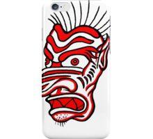 """Bold-School"" Tiki Mask. iPhone Case/Skin"