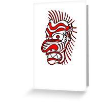 """Bold-School"" Tiki Head. Greeting Card"