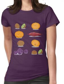 Funny Fruits Fun Pack Womens Fitted T-Shirt