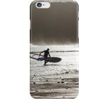 Surfer at Dusk iPhone Case/Skin