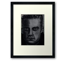 Charcoal portrait man Framed Print