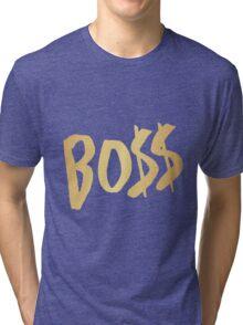 BO$$ - Gold Tri-blend T-Shirt