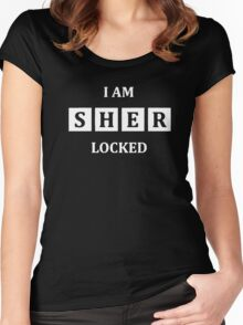 i am Sher Locked Women's Fitted Scoop T-Shirt