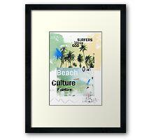 Beach culture avanture  Framed Print