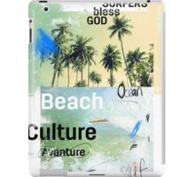Beach culture avanture  iPad Case/Skin